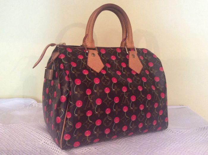 8ae8731fa31f0f Louis Vuitton - Monogram Cerises Cherry Speedy 25 Handbag ...