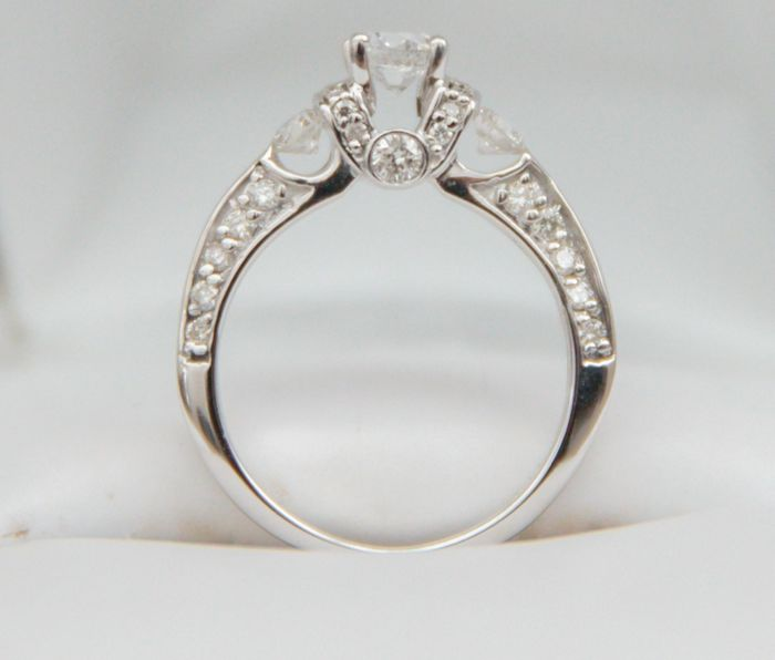 14 karaat Witgoud - Ring - 0.38 ct Diamant - Diamant
