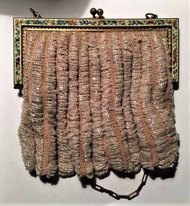 Purse with micro-mosaics and glass beads - Venice - 1910/20
