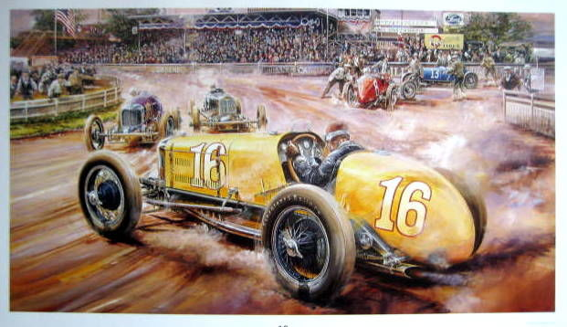 "Decoratief object - ""Historical Race"" Indianapolis - 1925-1935"