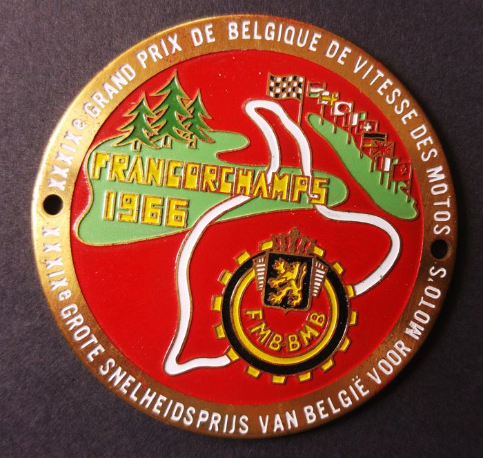 Decorative object -  XXIX Francorchamps Grand Prix of Belgique FMBBMB - 1966-1966 (1 items)
