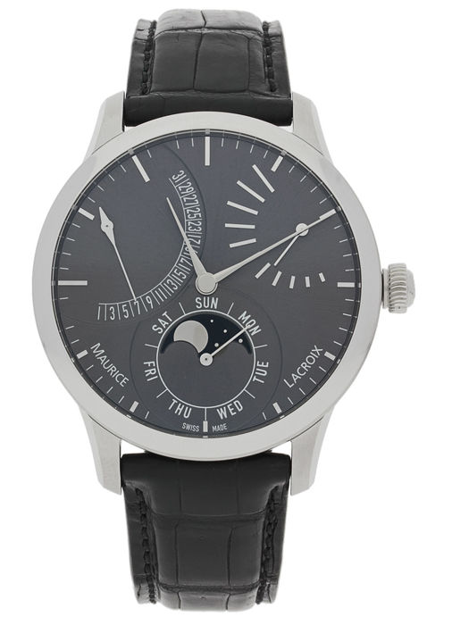 Maurice Lacroix - Masterpiece Lune Retrograde - MP6528-SS001-330 - Homem - 2011-presente
