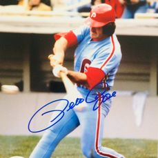 Pete Rose - Amazing Authentic Signed Autograph in Photo ( 20 x 25 cm ) - with Certificate of Authenticity JSA Witnessed