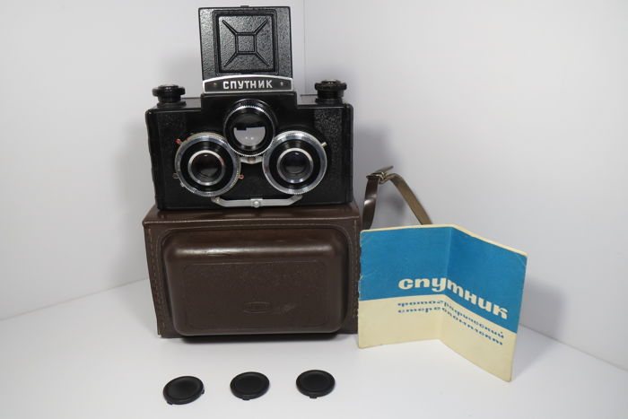 "Stereo Photo Camera ""Sputnik"". (1955) Rare ""Type-II"".  USSR. This camera has never been exhibited before !! Ideal condition!! Completely working !!"