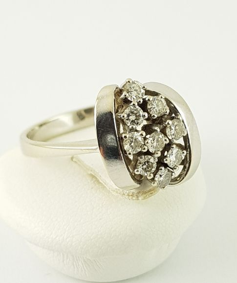 14 carats Or blanc - Bague - 0.45 ct Diamant