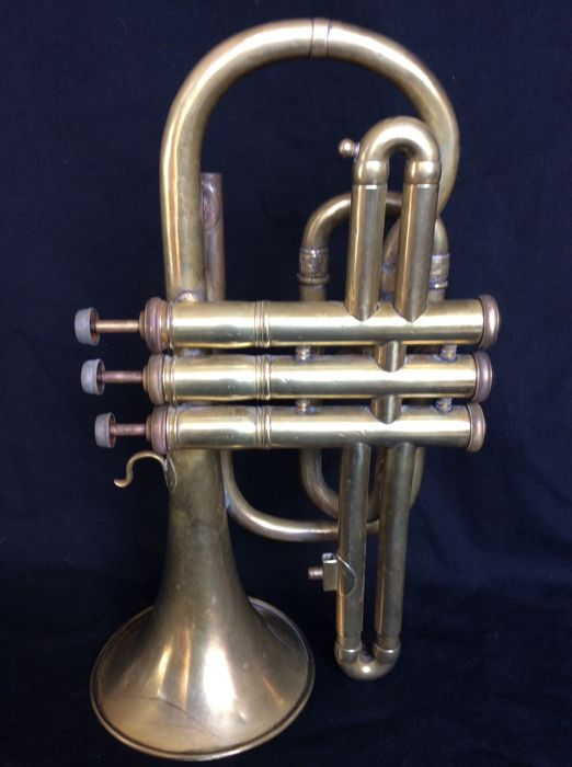 Gold plated trumpet first half 20th century