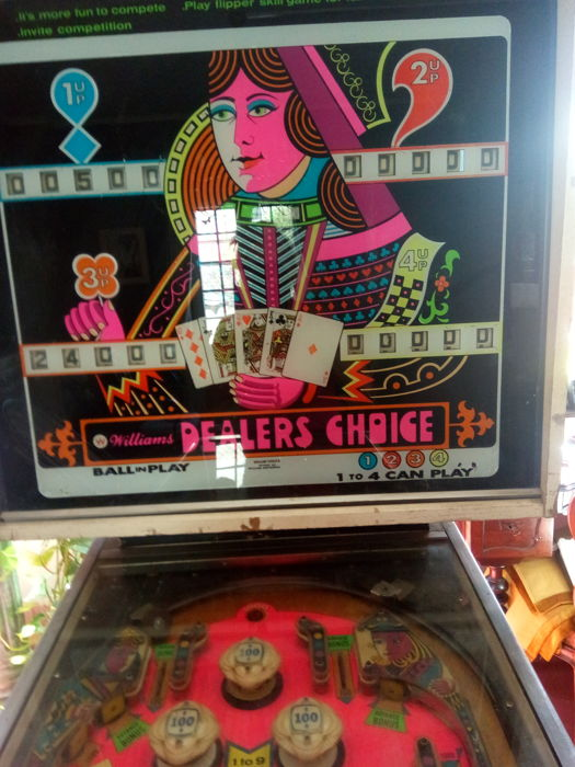 "Pinball Williams ""Dealers Choise"" of 1973"
