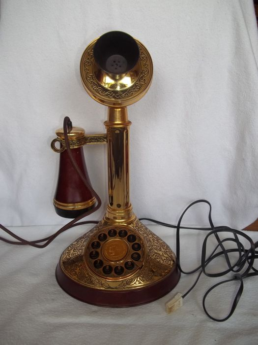 Alexander Graham Bell Commemorative Telephone - Franklin Mint - Plaqué or 24 carats - Très bon état.