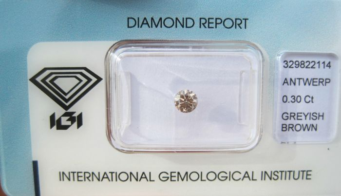 1 pcs Diamant - 0.30 ct - Briljant - SI1