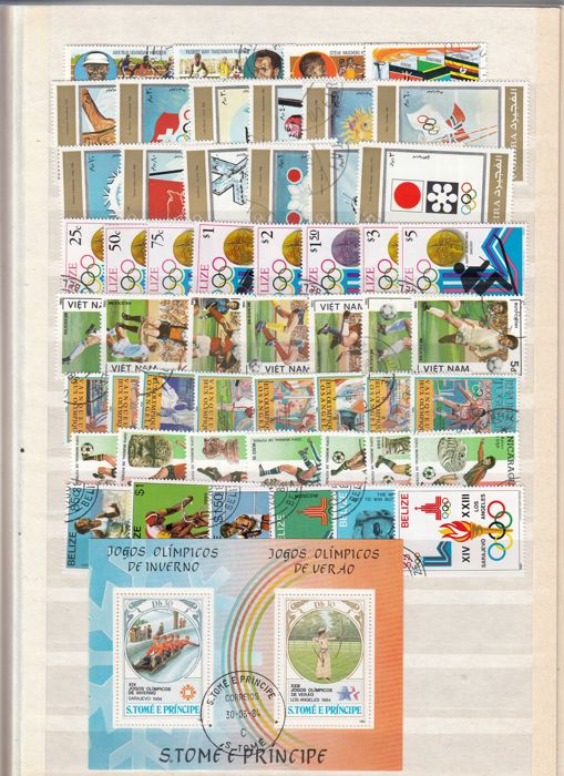 World - Theme collection Sport on Stamps