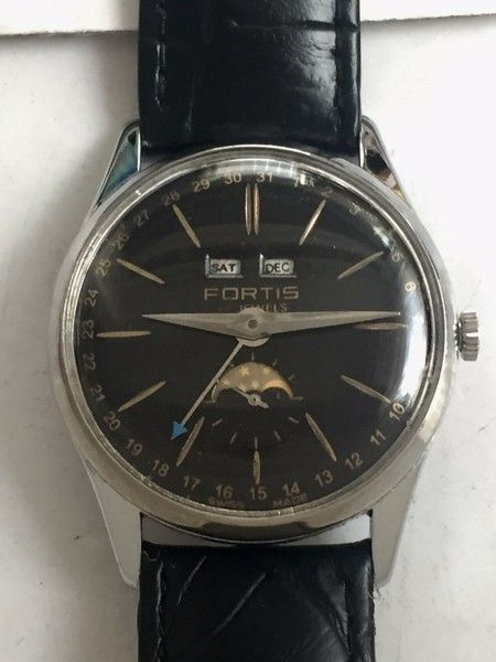 Fortis - triple calendar moonphase watch - 6076 - Unisex - 1950-1959