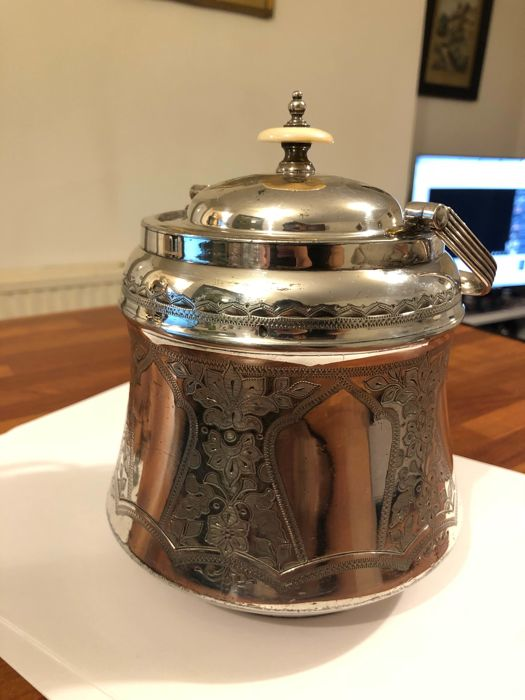 Antique Bucket silver plate 1915