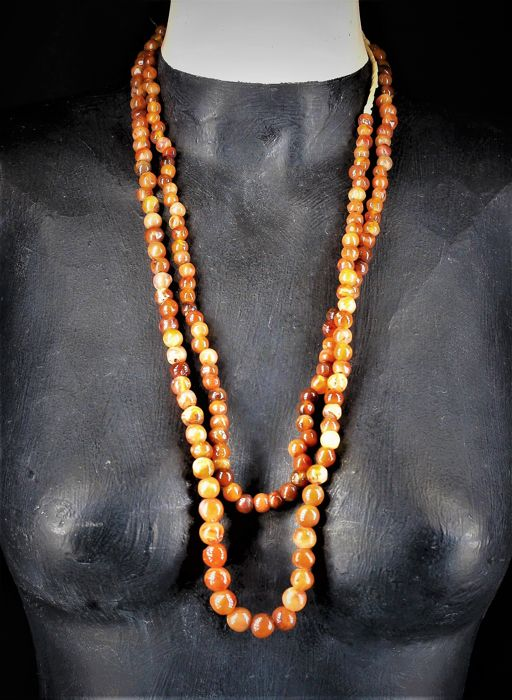 African old carnelian beads - West Africa - 1st half 20th century