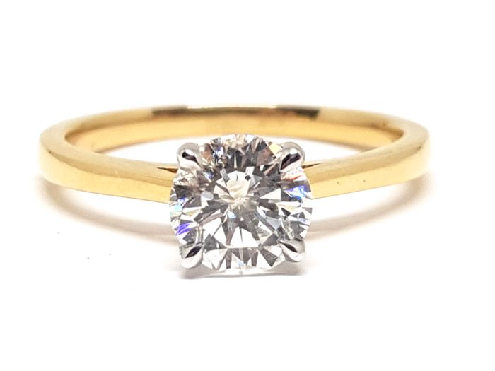 18 kt. Bicolour - Ring - 1.00 ct Diamond