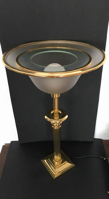 Neoclassic-style lamp - Chrome-plated metal