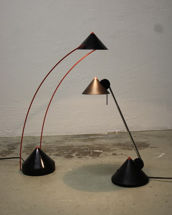 Brilliant Postmodern Table Lamps Set Of Two Catawiki