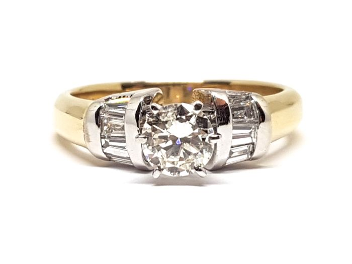 18 kt. Bicolour - Ring - 1.10 ct Diamond