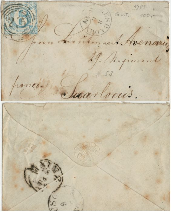 Bavaria 1850/1920 - Bayern selection + envelope Thurn & Taxis