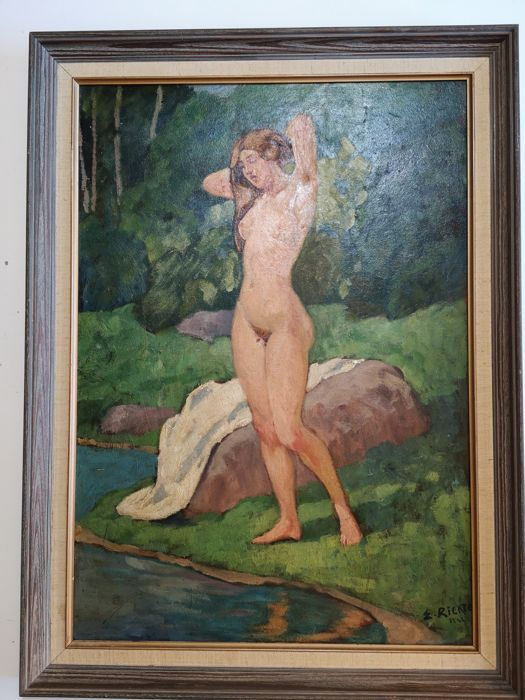 Unknown - Naked woman by the river