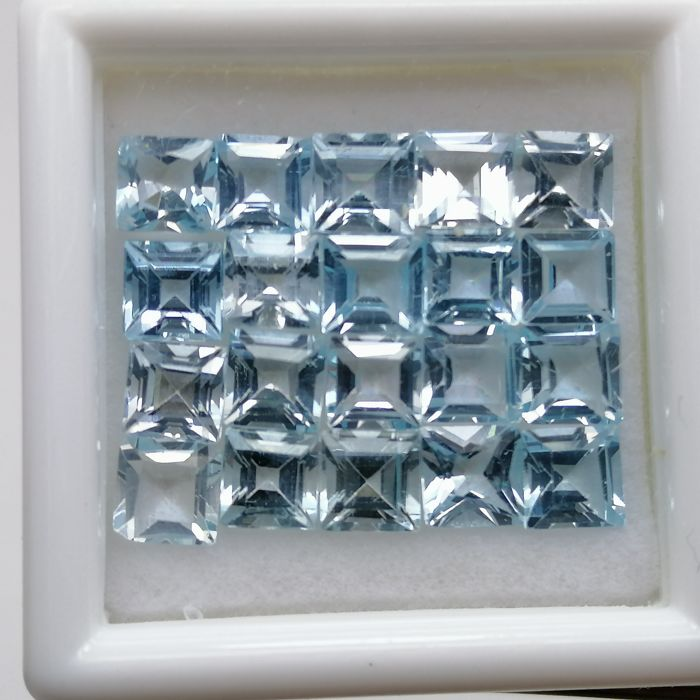 20 pcs  Topaz Sky Blue - 8.67 ct