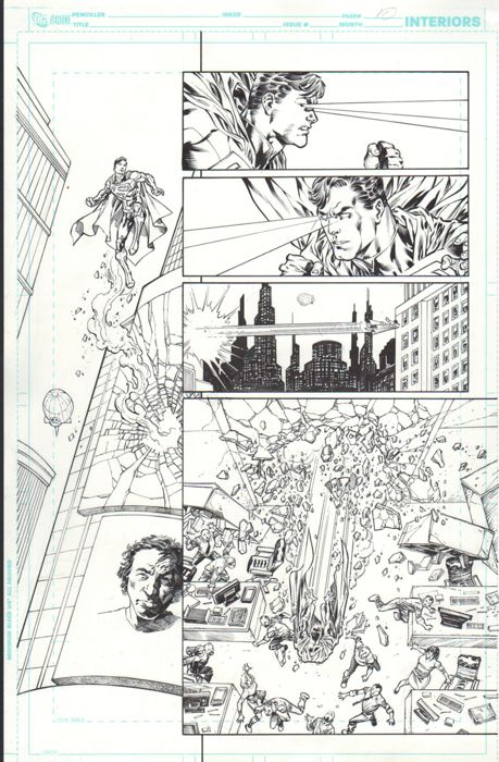 The New 52! - SUPERMAN  #2 - Original page (p.10) - First edition - (2011)