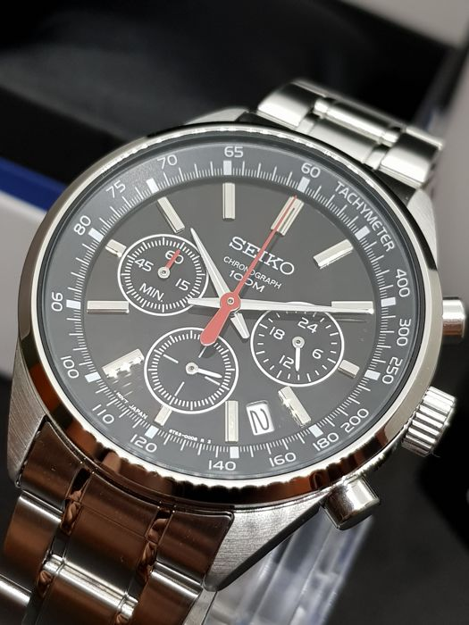 Seiko - Chronograph NEW FULL SET WARRANTY - Bărbați - 2011-prezent