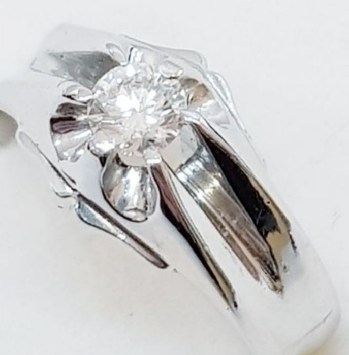 18 quilates Oro blanco - Anillo - 0.27 ct Diamante