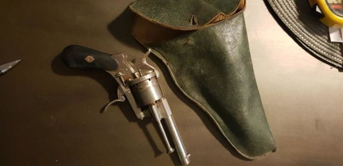 France - Holster - Pinfire (Lefaucheux) - Revolver - 7mm Cal