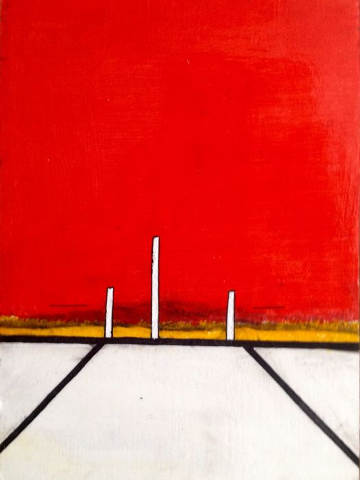 Paulus Noomen - Somewhere/composition in red