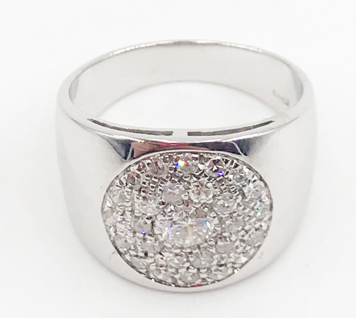 18 karaat Witgoud - Ring - 0.81 ct Diamant