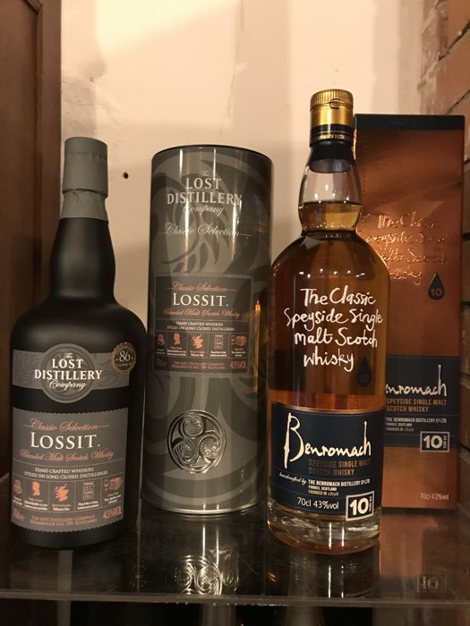 Benriach 10 years old & Lossit The Lost Distillery Company - 0.7 Ltr - 2 bottles