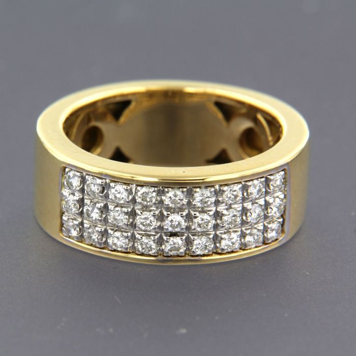 18 karaat Goud, Witgoud - Ring - 0.55 ct Diamant