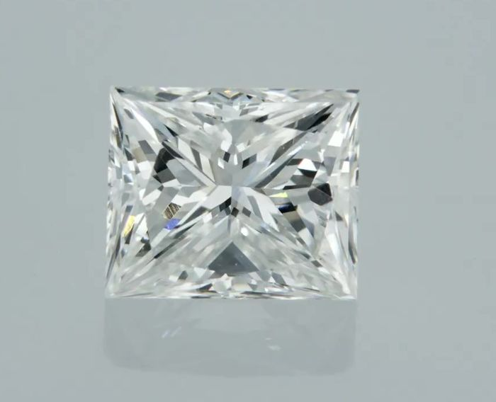 1 pcs Diamant - 0.96 ct - Prinzess - G - VS1
