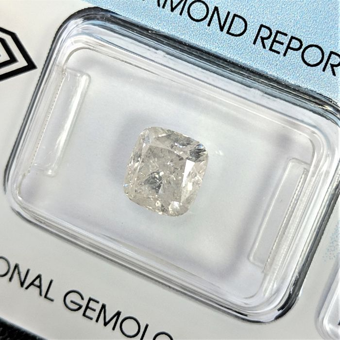 Diamond - 2.02 ct - Cushion - I - I2, IGI Antwerp - No Reserve Price