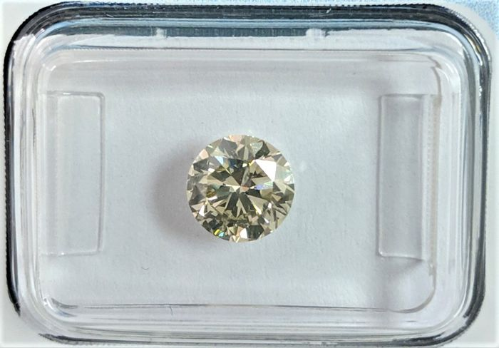 Diamante - 1.05 ct - Brilhante - N (colorido) - very light yellow brown - I1, IGI Antwerp - No Reserve Price