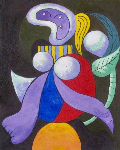 Pablo Picasso ( after) - Woman with a Flower