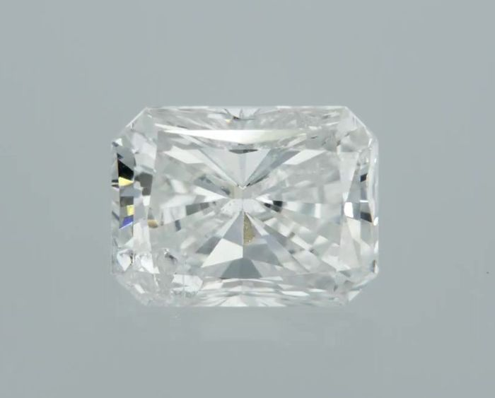 1 pcs Diamant - 0.52 ct - Radiant - D (kleurloos) - SI1