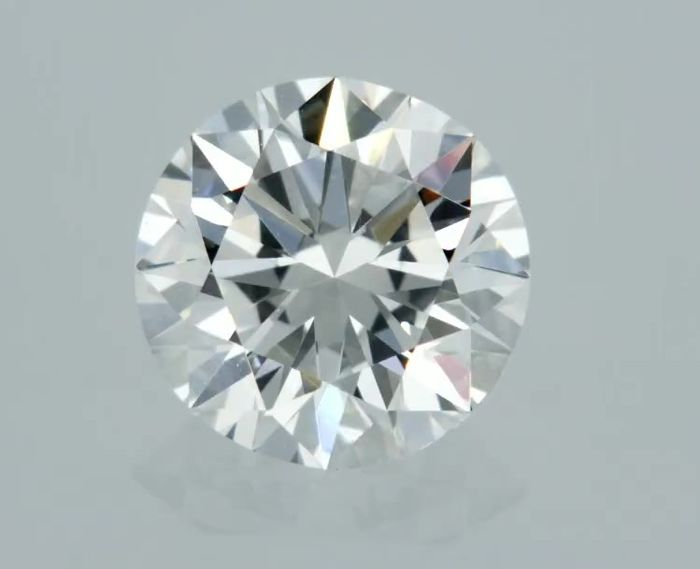 1 pcs Diamant - 0.50 ct - Rund - F - VS1