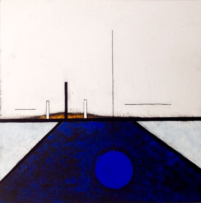 Paulus Noomen - Somehere/composition in blue 4141
