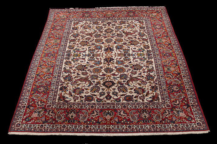 Carpet, Isphahan - Carpet - 355 cm - 265 cm - Wool on Cotton - First half 20th century