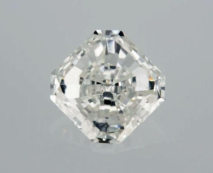1 pcs Diamant - 0.55 ct - Radiant - F - SI1
