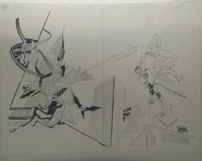 Spider-Man - Double Splash Commission - Loose page - First edition