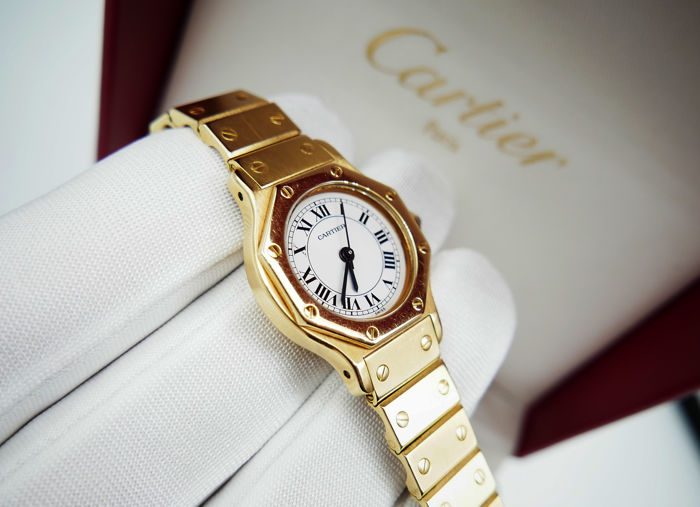 Cartier - Santos Petit Octagon 18ct Gold Automatic - Damen - 1990-1999