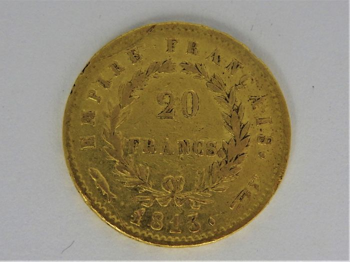 France - 20 Francs 1813 (Utrecht) Louis XVIII - Gold