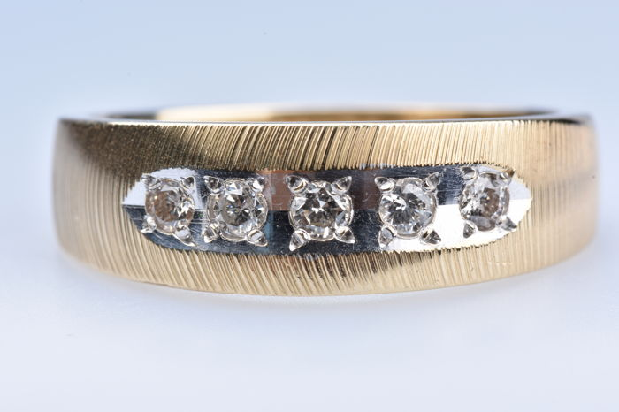 14 kt. Gold - Ring - 0.10 ct Diamond - Diamond
