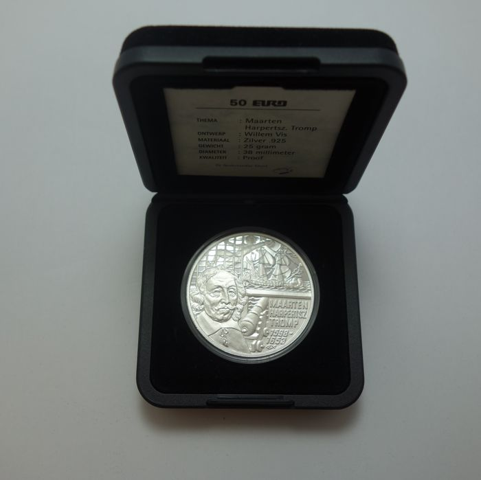 "The Netherlands - 50 Euro 1998 ""Maarten H. Tromp"" - Silver"