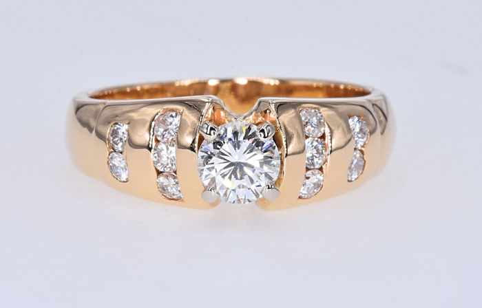 Goud - Ring - 0.45 ct Diamant - Diamanten van 0,27 ct