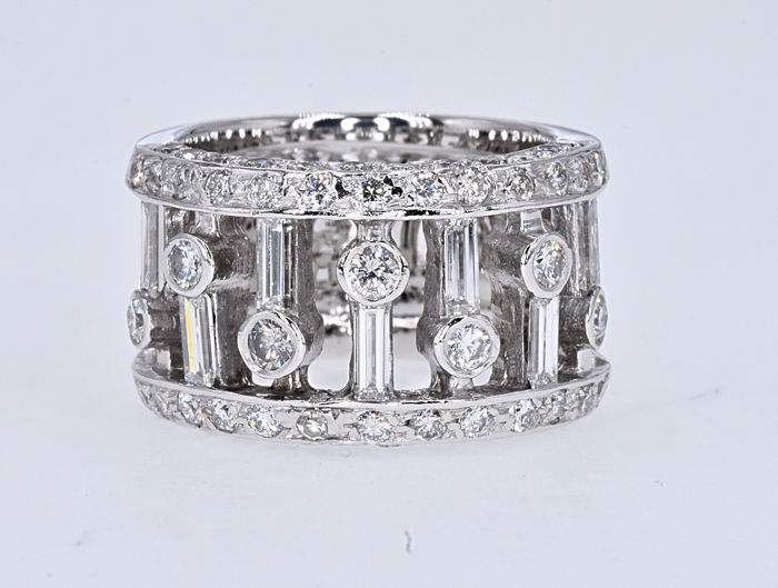 18 karaat Witgoud - Ring - 1.48 ct Diamant