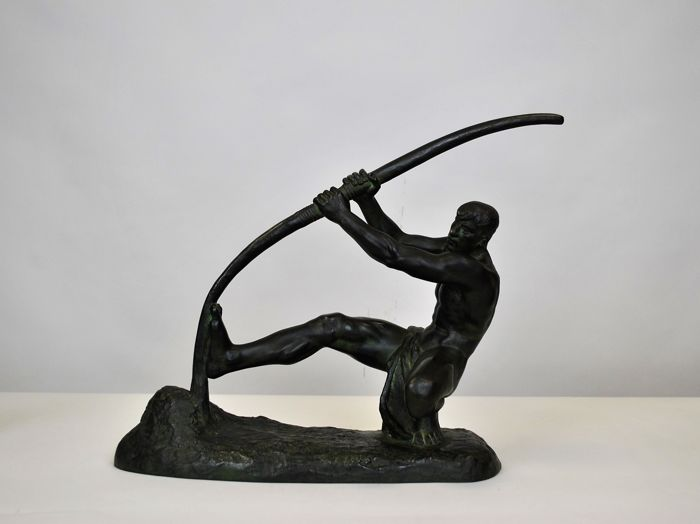 Georges Gori  - Sculpture man with the bow