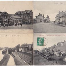 """France - """"STATIONS & TRAINS"""" - Postcards (Collection of 60) - 1900-1960"""
